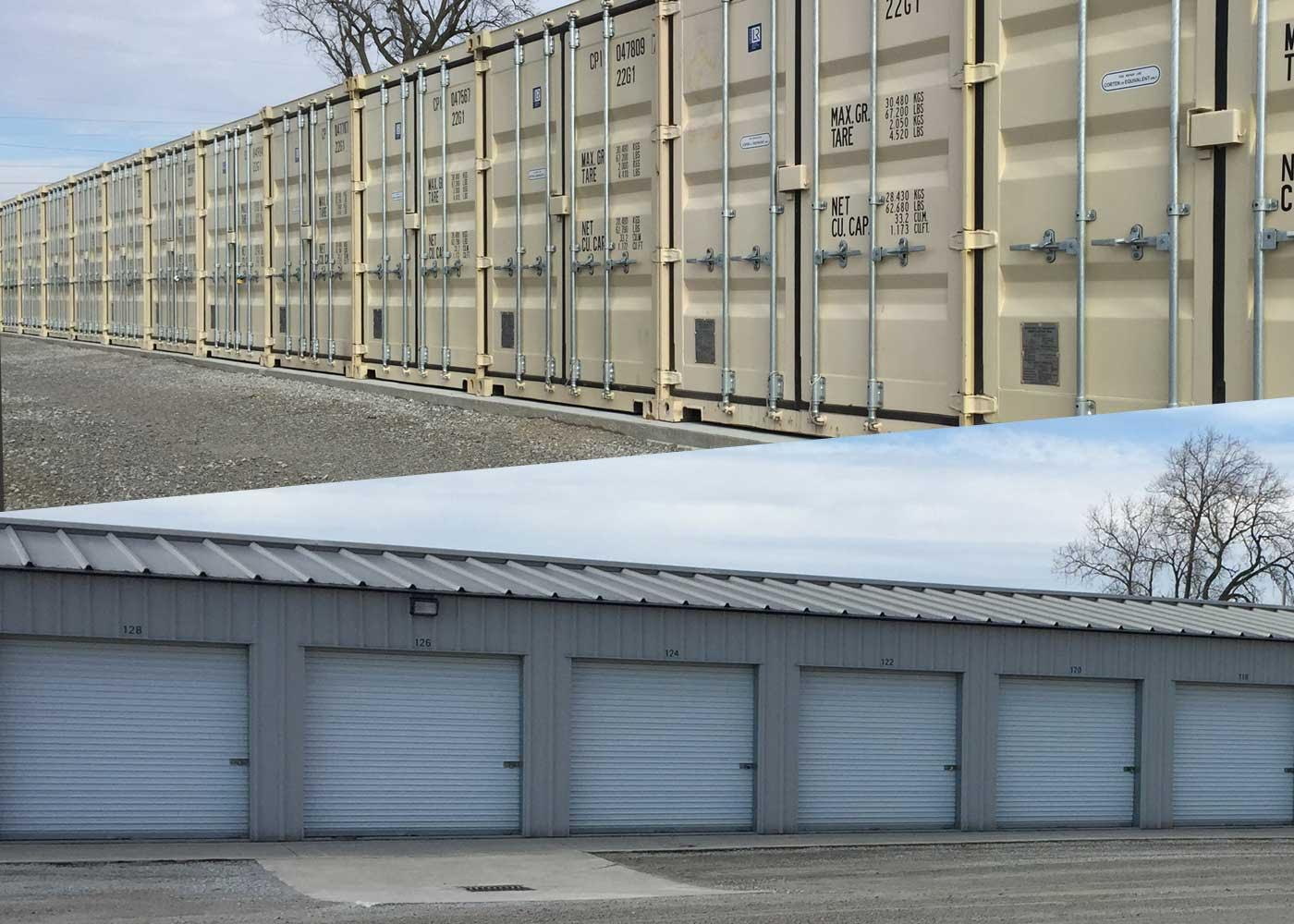storage units containers